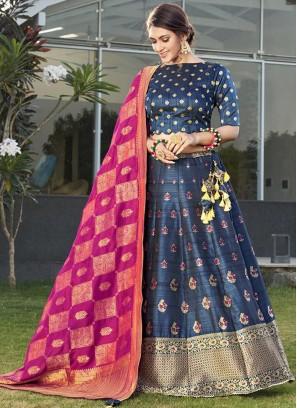 Delightful Silk Party Designer Lehenga Choli