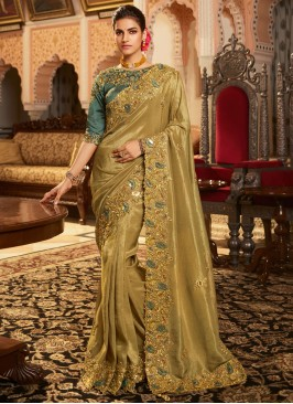 Demure Patch Border Traditional Designer Saree