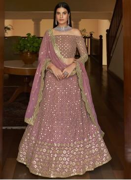 Deserving Embroidered Georgette Lehenga Choli
