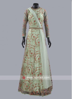 Designer A Line Gown with Dupatta