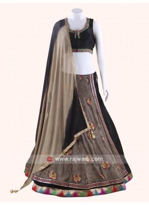 Designer Art Raw Silk Chaniya Choli