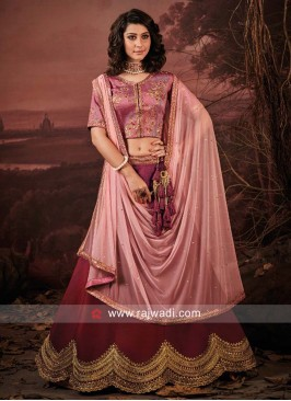 Designer Art Raw Silk Lehenga Set
