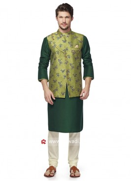 Designer Brocade Silk fabric Nehru Jacket