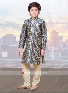 Designer Art Silk Kurta Pajama for Kids