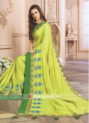 Designer Art Silk Saree with Blouse