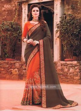 Designer Art silk Saree with Border