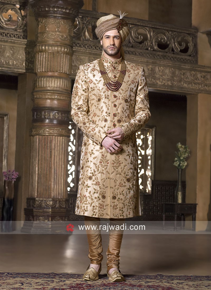Designer Art Silk Sherwani