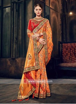 Designer Banarasi Silk Saree with Border