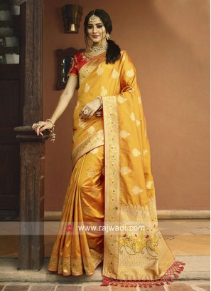 Designer Banarasi Silk Wedding Saree