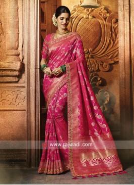 Designer Banarasi Silk Wedding Saree