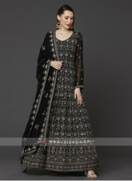 Designer Black Color Anarkali Suit With Dupatta