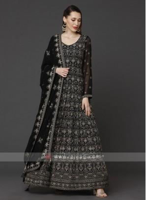Designer Blue Color Anarkali Suit With Dupatta
