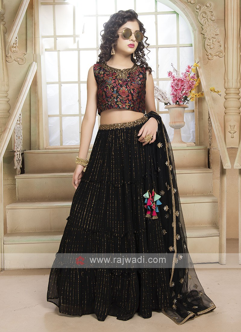 Designer Black Color Choli Suit