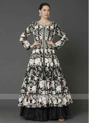 Designer Black Color Dress With Shrug