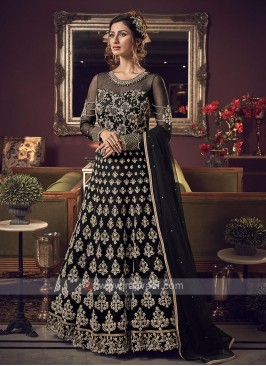 Designer black color salwar suit