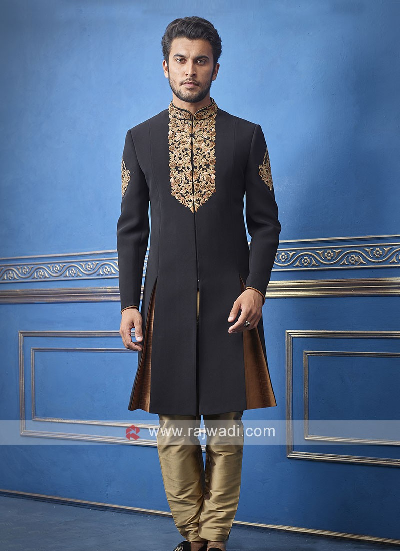 Designer black colour indo-western