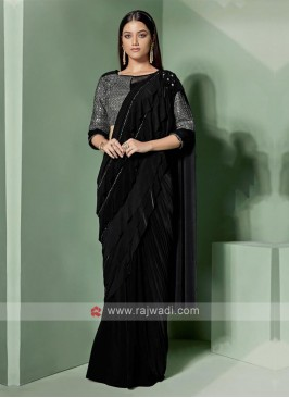 Designer black colour saree