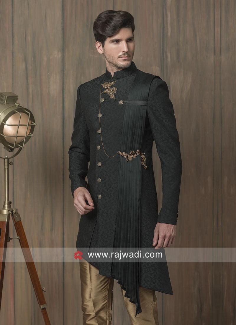 Designer Black Indo Western