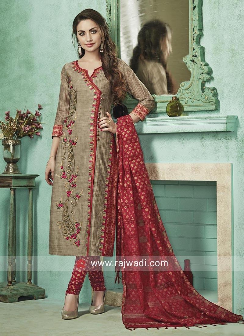 Designer Block Print Salwar Suit