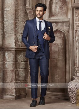 designer blue color suit