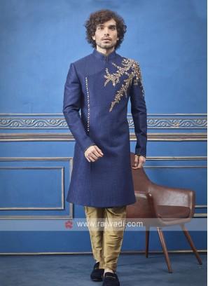 Designer blue colour indo-western