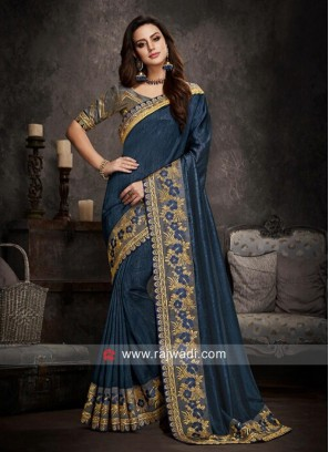 Designer Border Work Saree