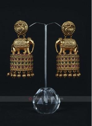 Designer Brass Metal Earrings