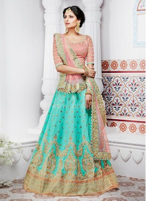 Designer Bridal Two Tone Lehenga Saree