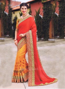 Designer Bridal Two Tone Sayali Bhagat Saree