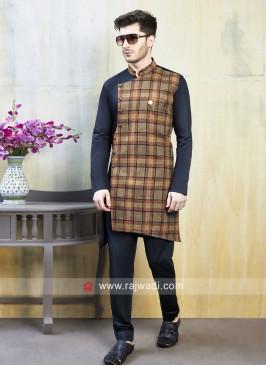 Designer Linen cotton Indo Western