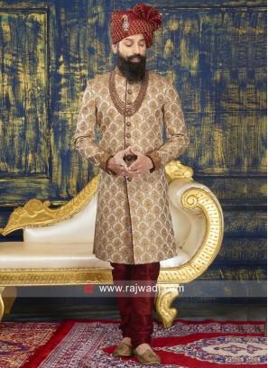 Designer Brocade Silk Sherwani