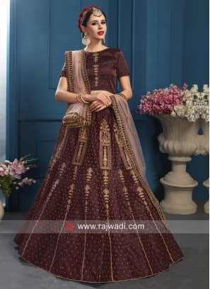 Designer Brown Lehenga Choli with Dupatta