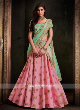Designer Butter Silk Lehenga Set