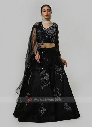 Designer Choli Suit In Black