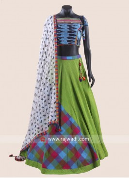 Designer Cotton Chaniya Choli for Garba