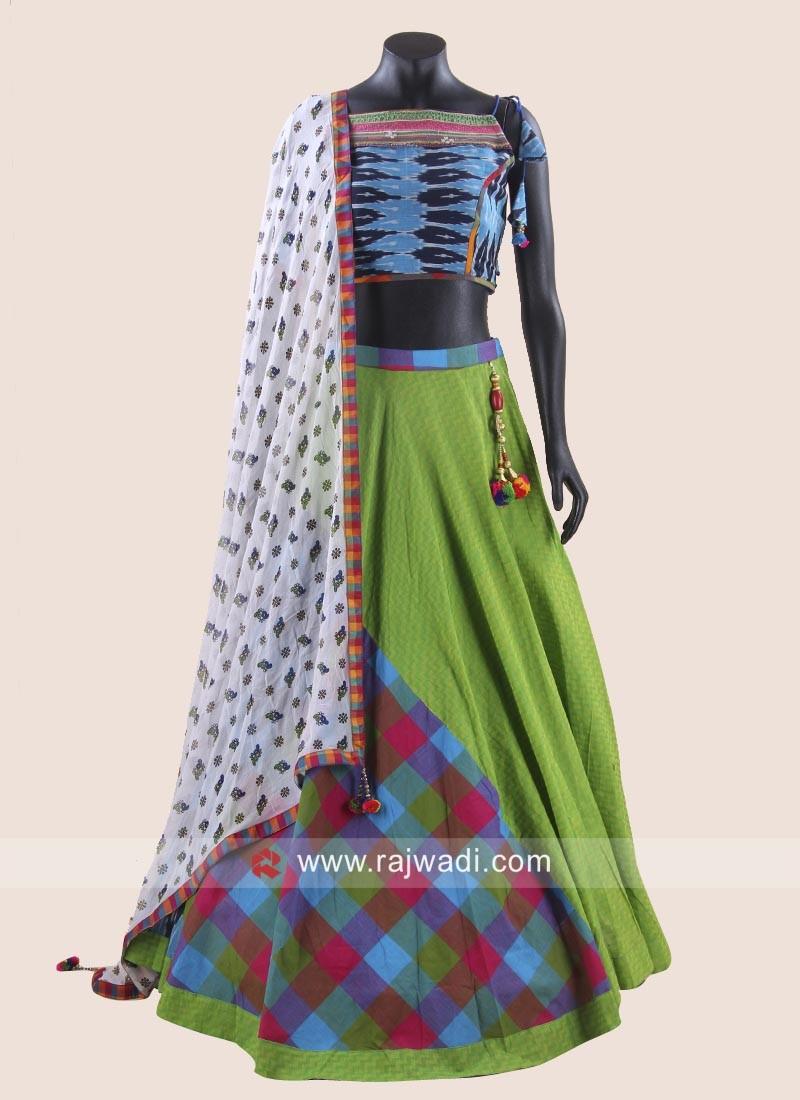 Designer Cotton Chaniya Choli for Garba