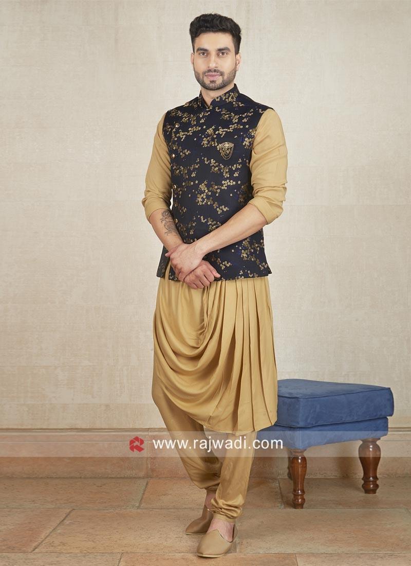Designer Cotton Satin Nehru Jacket