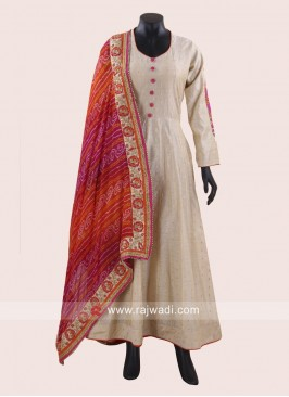 Designer Cotton Silk Anarkali Dress