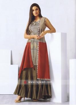 Designer Cotton Silk Long Kurti