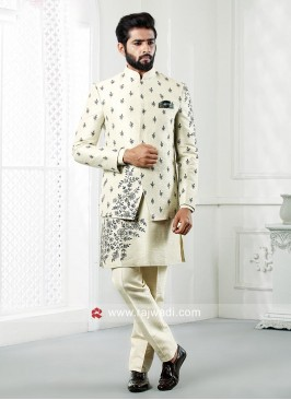 Designer Cream Color Indo Western