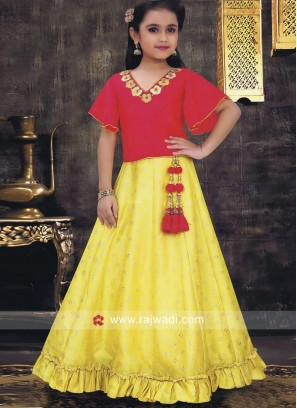 Designer Crepe Lehenga Set with Dupatta