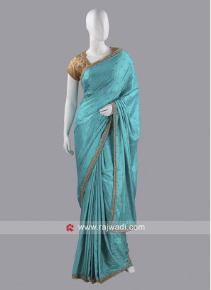 Designer Diamond Work Choli Saree