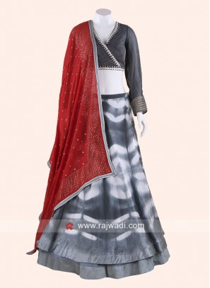 Designer Double Layer Lehenga Choli