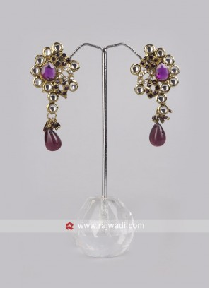 Designer Earrings with Push Closure