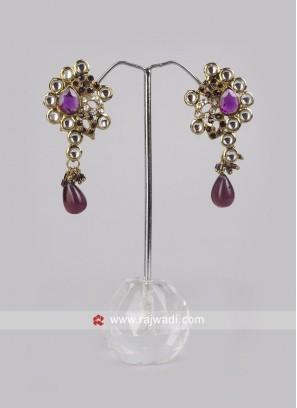 Designer Earrings with Push Closure