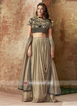 Designer Embroidered Choli Suit