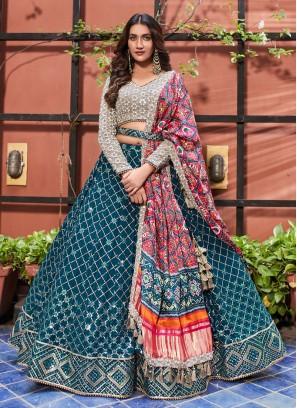 Designer Embroidered Choli Suit