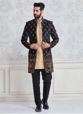 Designer Embroidered Indo Western Sherwani