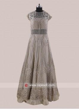 Designer Embroidered Net Gown