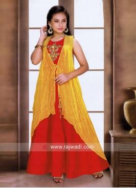 Designer Floor Length Gown for Girls